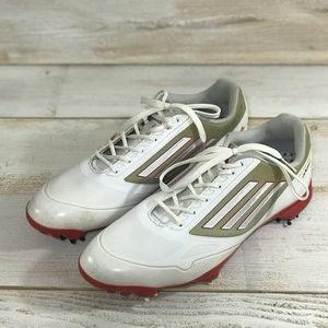 Adidas Men's Adizero One White/Red Golf Shoes